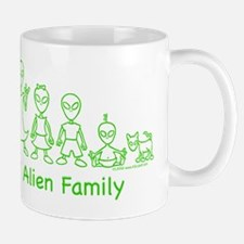 ILYAlienFamilyText Mug