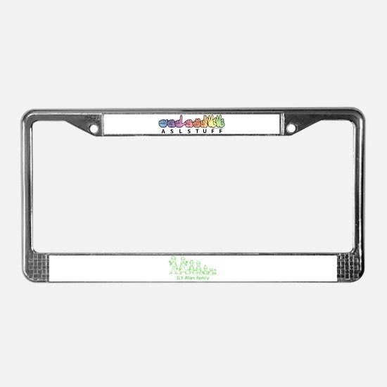 ILYAlienFamilyText License Plate Frame