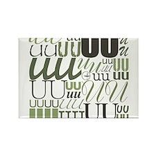 UU Typography (Sage) Rectangle Magnet