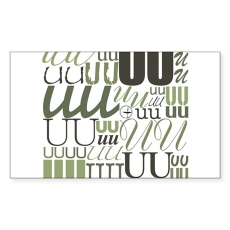 UU Typography (Sage) Rectangle Sticker 10 pk)