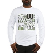 UU Typography (Sage) Long Sleeve T-Shirt