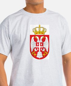 Serbia Coat Of Arms Ash Grey T-Shirt