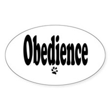 Obedience Oval Bumper Stickers