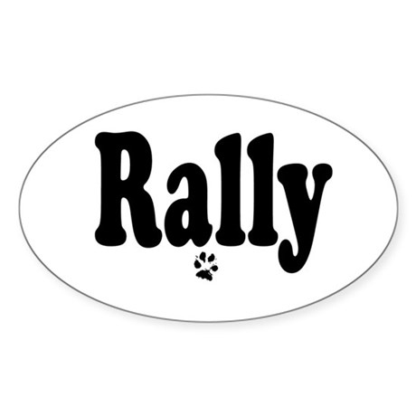 Rally Oval Sticker
