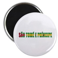 "Sao Tomé and Príncipe 2.25"" Magnet (10 pack)"