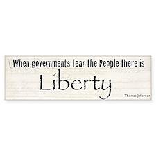 Liberty Bumper Bumper Sticker