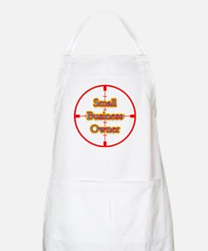 Small Business Owner in Cross BBQ Apron