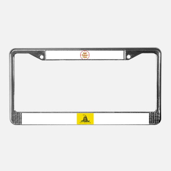 Small Business Owner in Cross License Plate Frame