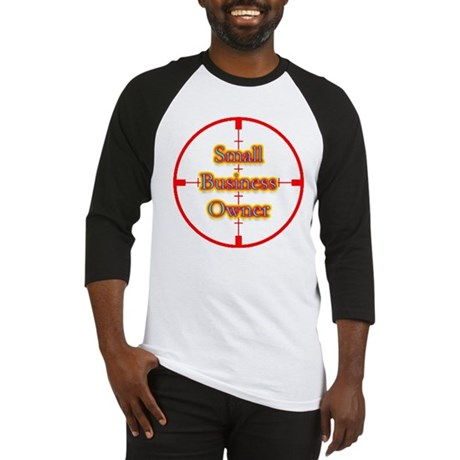 Small Business Owner in Cross Baseball Jersey