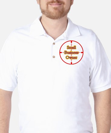 Small Business Owner in Cross Golf Shirt