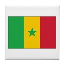 Senegal Flag Tile Coaster