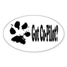 Co-Pilot dog Oval Decal