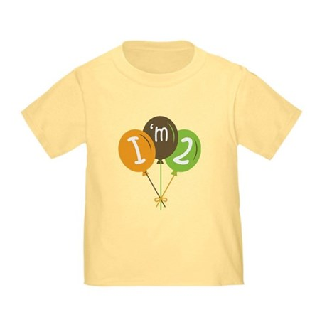 2nd Birthday Balloons Toddler T-Shirt