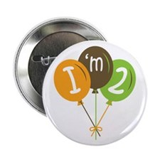 "2nd Birthday Balloons 2.25"" Button"