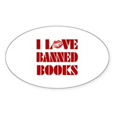Banned Books Oval Decal