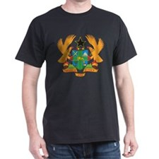 Ghana Coat Of Arms Black T-Shirt