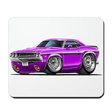 Challenger Purple Car Mousepad