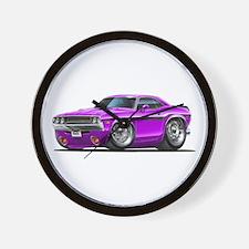 Challenger Purple Car Wall Clock