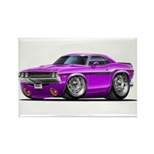 Challenger Purple Car Rectangle Magnet