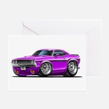 Challenger Purple Car Greeting Cards (Pk of 10)