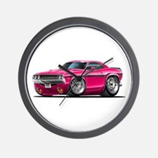 Challenger Pink Car Wall Clock