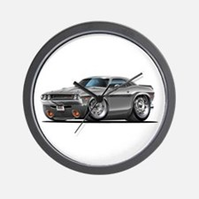 Challenger Silver Car Wall Clock