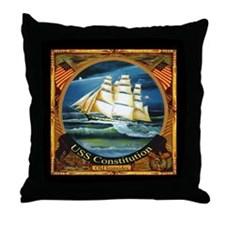 U.S.S Constitution Old Ironsides Throw Pillow