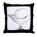 Holle Cropper Pigeon Throw Pillow