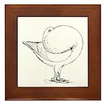 Holle Cropper Pigeon Framed Tile