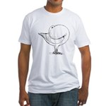 Holle Cropper Pigeon Fitted T-Shirt