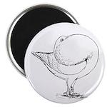 "Holle Cropper Pigeon 2.25"" Magnet (100 pack)"