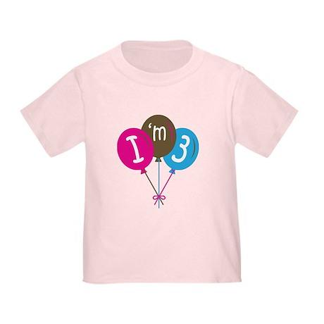 3rd Birthday I'm 3 Toddler T-Shirt
