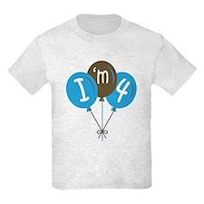 4th Birthday I'm 4 T-Shirt