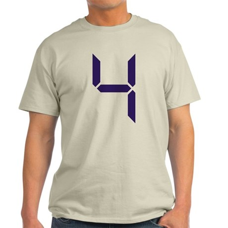 Number - Four - 4 Light T-Shirt