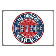 Jokers N Smokers All American Barbecue Banner