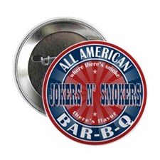 """Jokers N Smokers All American Barbecue 2.25"""" Butto"""
