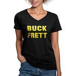 Buck Frett Women's V-Neck Dark T-Shirt
