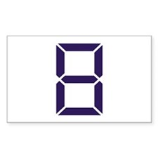 Number - Eight - 8 Rectangle Decal