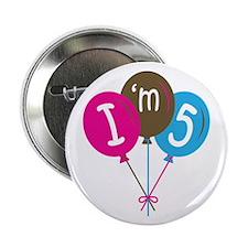 "5th Birthday I'm Five 2.25"" Button"