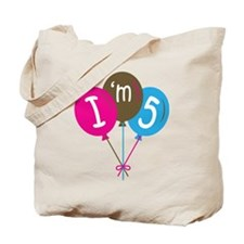 5th Birthday I'm Five Tote Bag