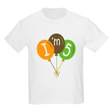 5th Birthday I'm Five T-Shirt