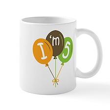 5th Birthday I'm Five Mug
