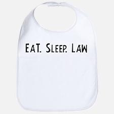 Eat, Sleep, Law Bib