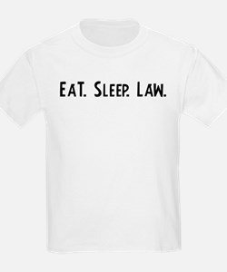Eat, Sleep, Law Kids T-Shirt
