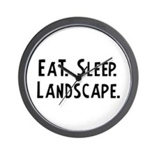 Eat, Sleep, Landscape Wall Clock