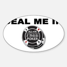 Deal Me In White Oval Decal