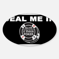 Deal Me In Black Oval Decal