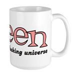 Queen of the fucking universe Large Mug