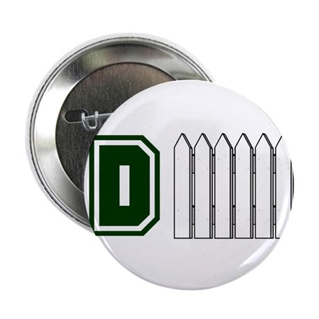 """D FENCE (1 GREEN) 2.25"""" Button (10 pack)"""