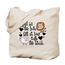 Lion fell in love with lamb #2 Tote Bag